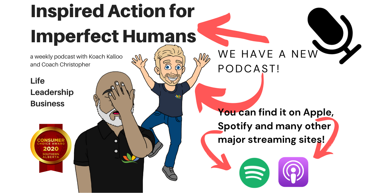 """Image of """"Inspired Action for Imperfect Humans"""" podcast"""