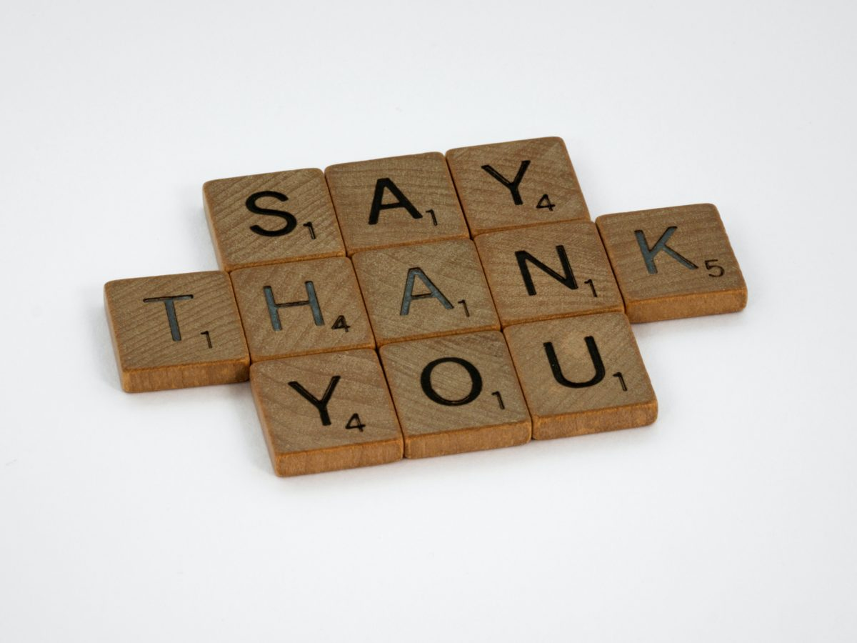 """Do you want them to say """"thank you""""?"""